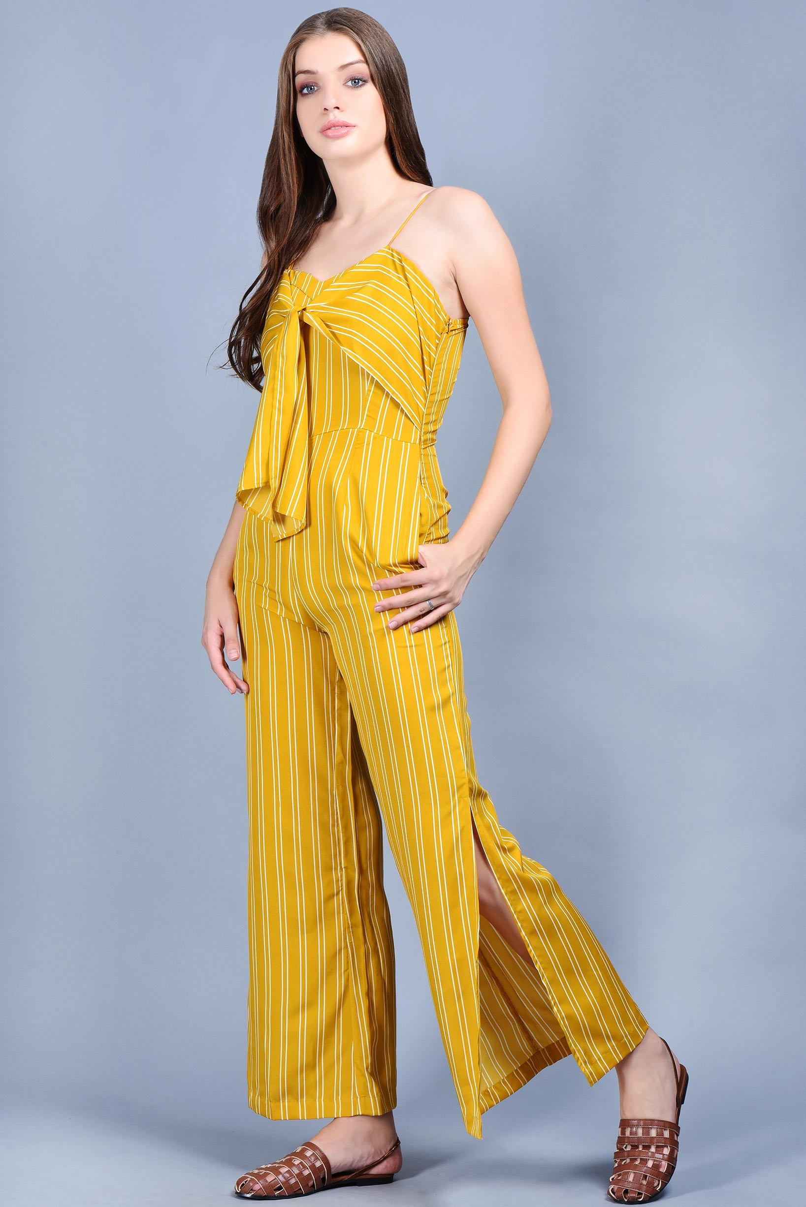 Honey front tie jumpsuit