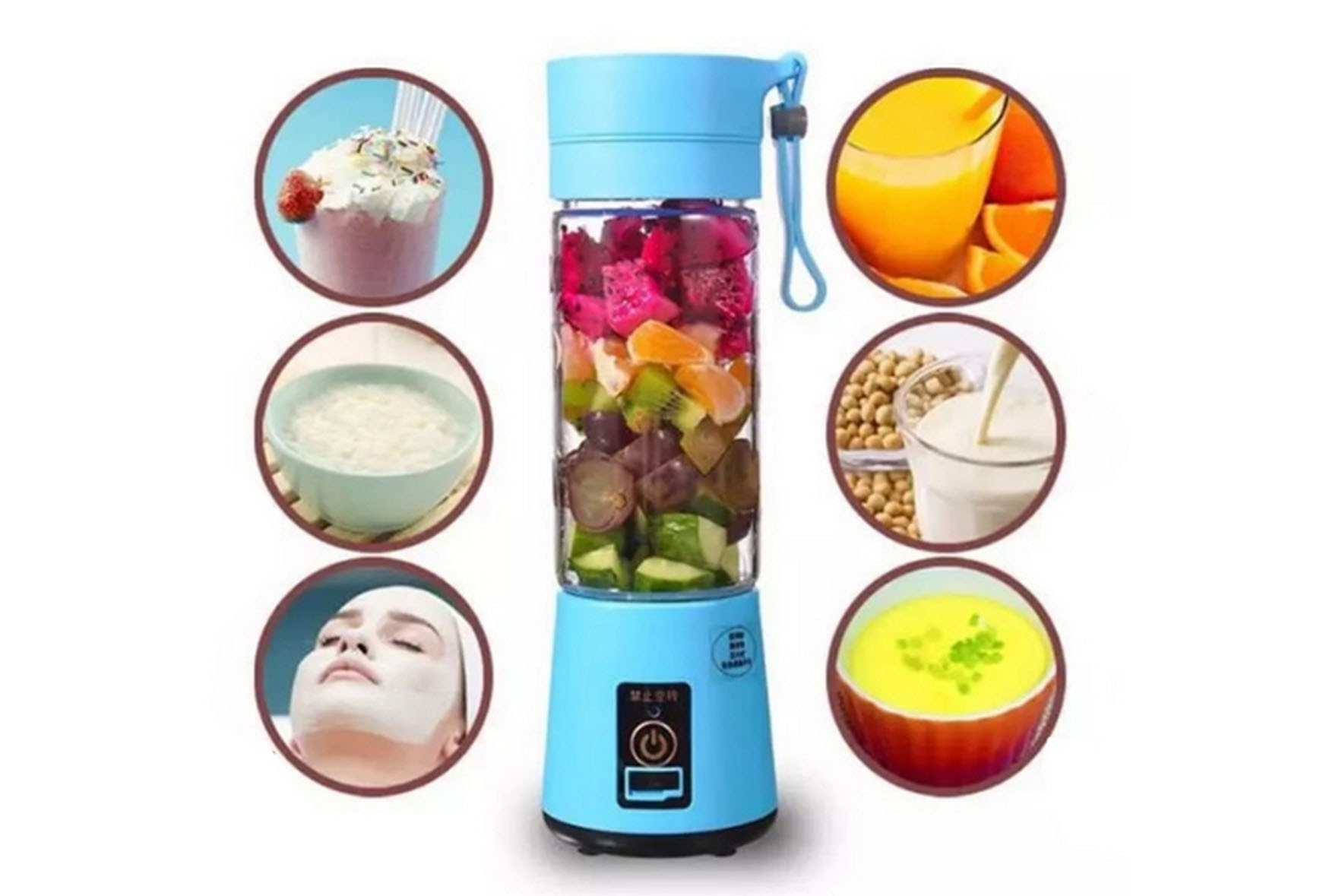 Mini portable one minute juicer bottle