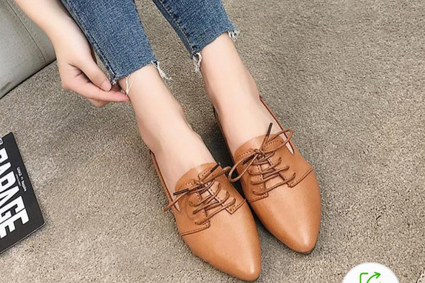 Style high shoe brown