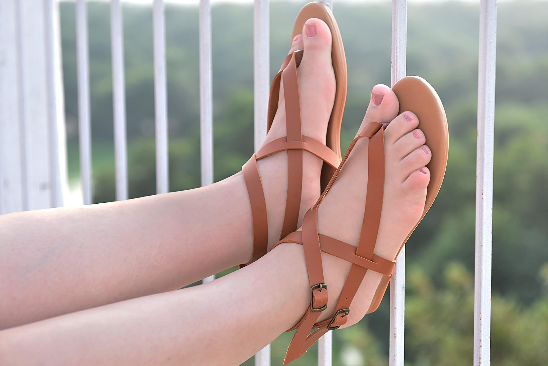 Instant crush flats brown