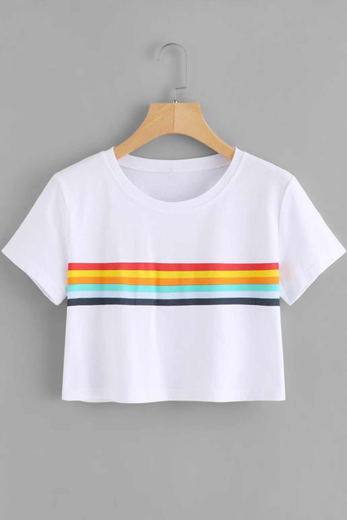 Colorful Striped Crop Top