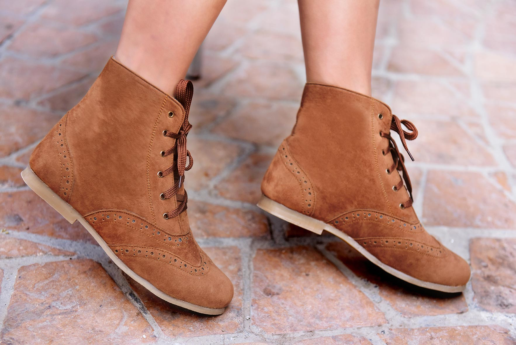 Vintage styled brown boots