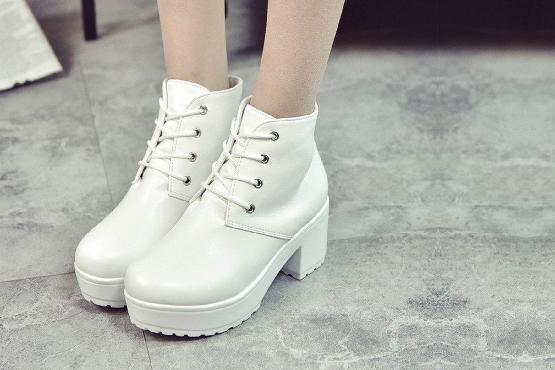 Winter Rough Boots White