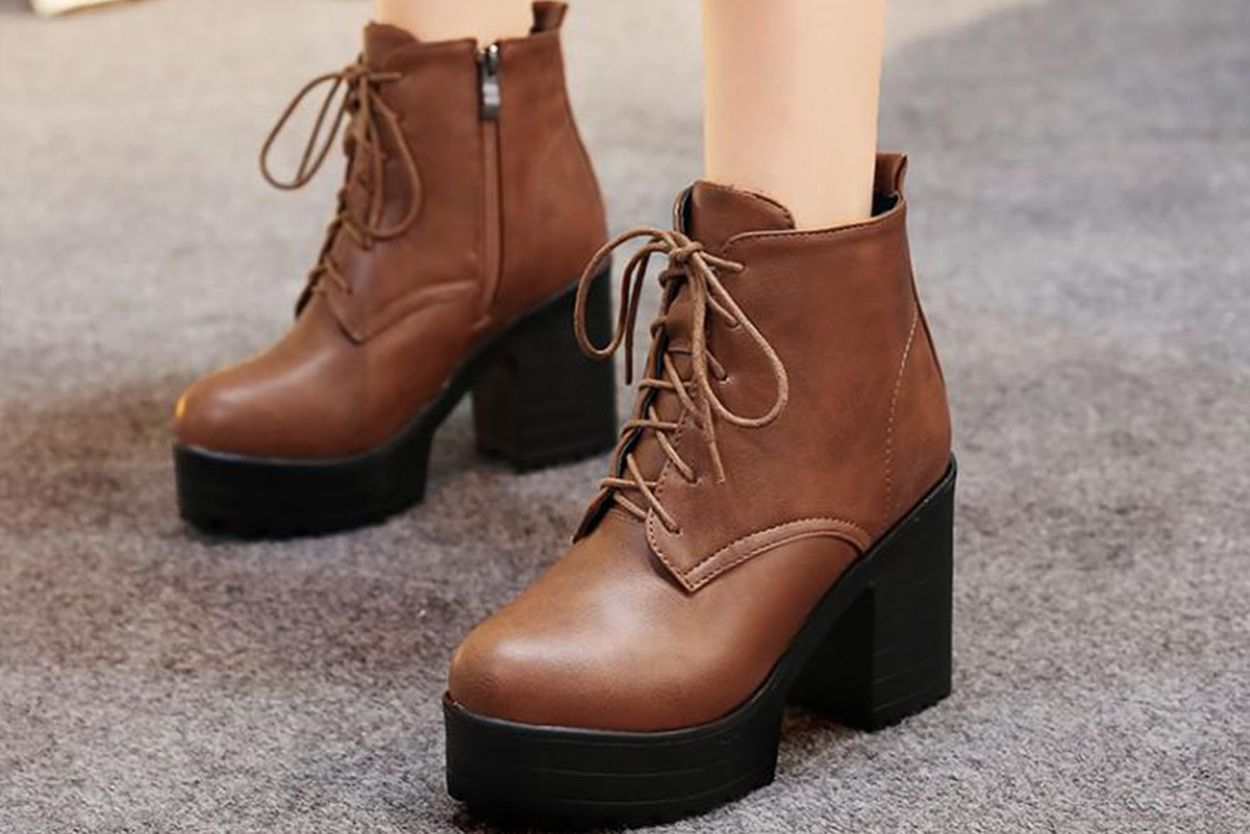 Beautiful Ankle Boots Brown