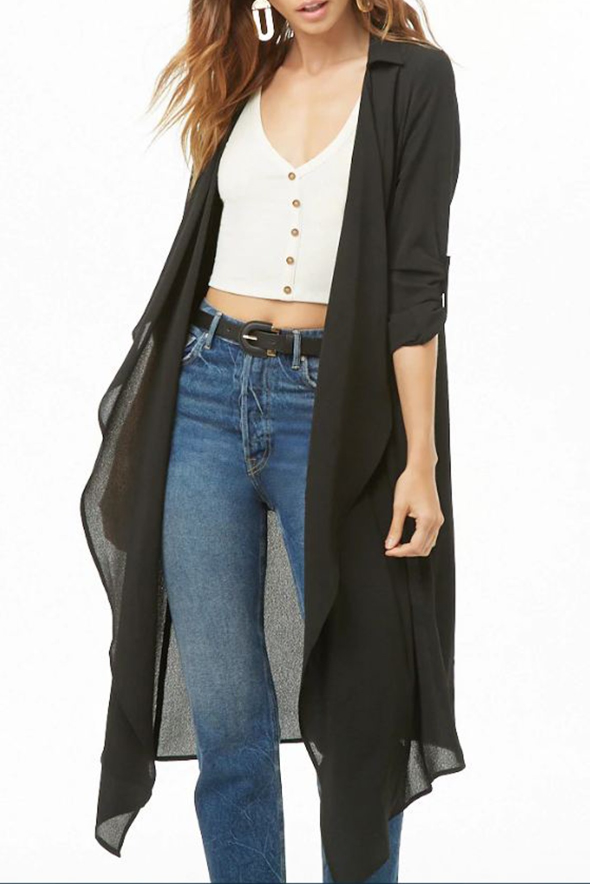 Front Duster Collar Shrug
