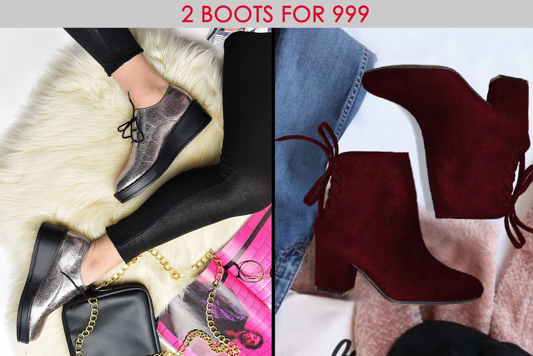 Combo- Walk to Remember Boots Marsala & Lovers on the sun shoe