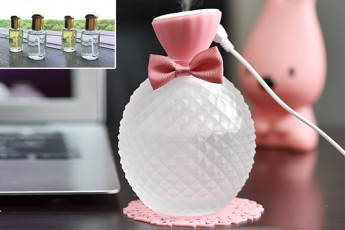 Pink Bow Aroma USB Diffuser with four frangrances