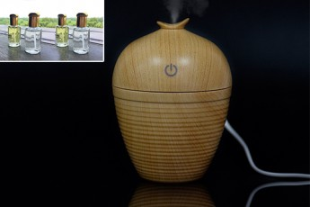 Wooden textured Aroma USB Diffuser with four frangrances