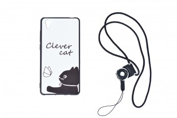 Vivo y51 Phone Clever Cat Case with phone string