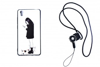 Vivo y51 Phone Alone Girl Case with phone string
