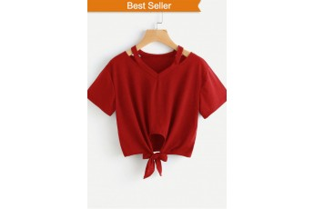 Front Knot Marsala Classic top