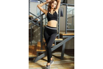 Set :Sexy slingback sports bra with stretchable leggings
