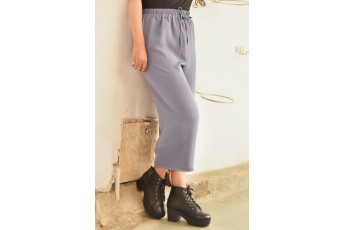 A Plaid Summer Trousers Grey