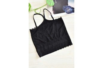 Simple Black lace Inner Top