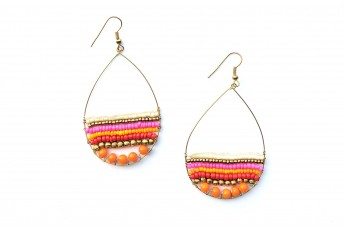 Colourful beaded earings