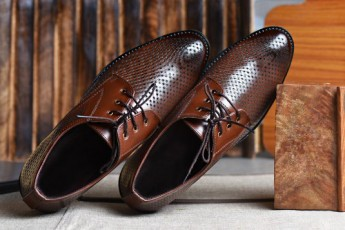 Brown formal moccains shoes