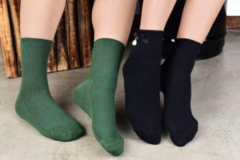 Set of 2- Dark Green and black