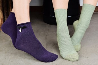 Set of 2- Purple and green