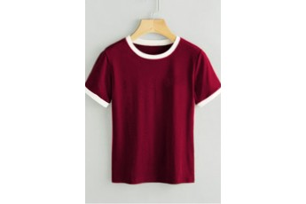 Two tone Marsala t-shirt