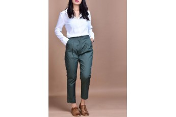 Set- White shirt with green pant