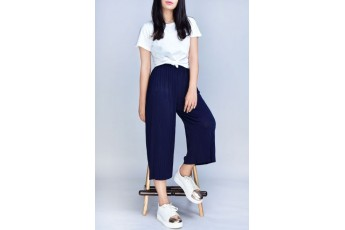 Set- White top with Navy Blue trouser