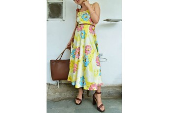 Nice with nature dress with belt