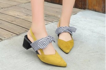Knoted Bow Pointed Toe Heel