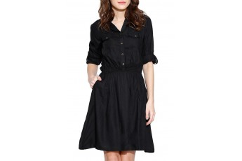 Black Rayon Dress