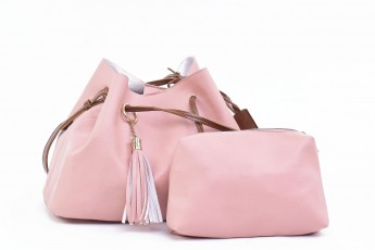 Set of 2 - Key to west bags Pink