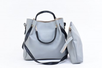 Set of 2 - Grey Riding bags