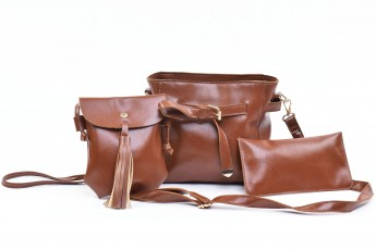 Set of 3 - Sunday Funday bag Brown