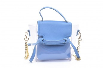 Set of 2 - High tied Bags Blue
