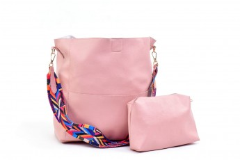 Set of 2: Double Tap Bag Pink