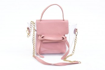Set of 2 - High tied Bags Pink