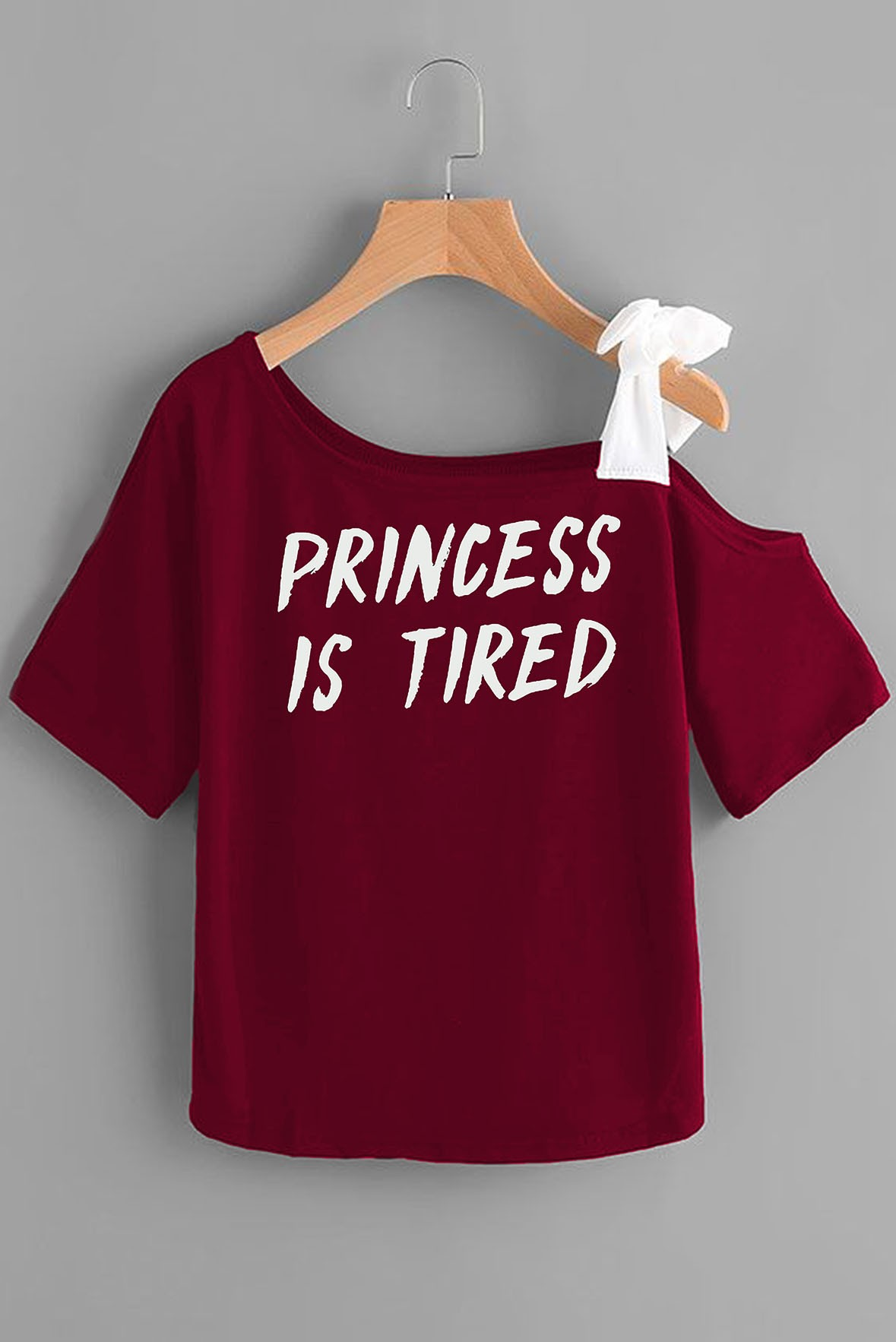 Princess is tired marsala top