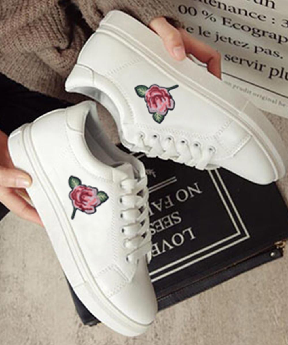 Rose Yourself White Sneakers