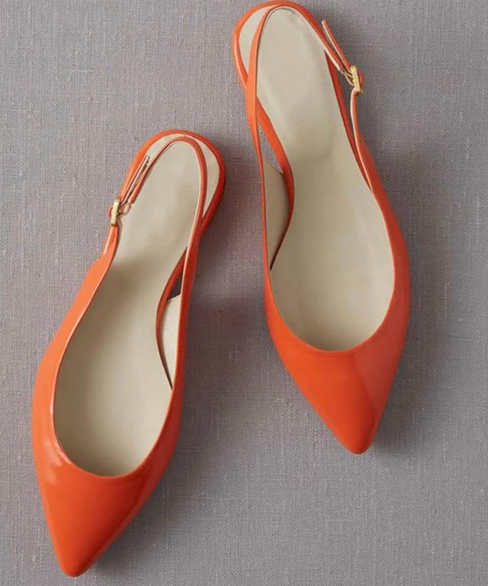 Pointed Sling back Flats