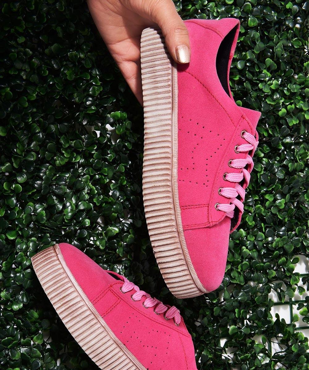 Platform Sneakers Pink