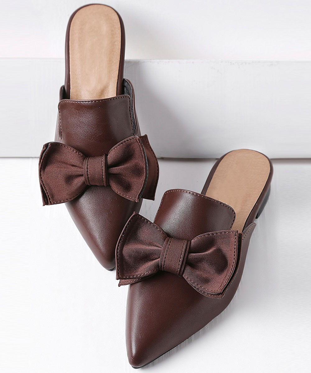Work the Bloom Flats Brown