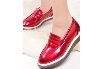Go for walk red sneakers