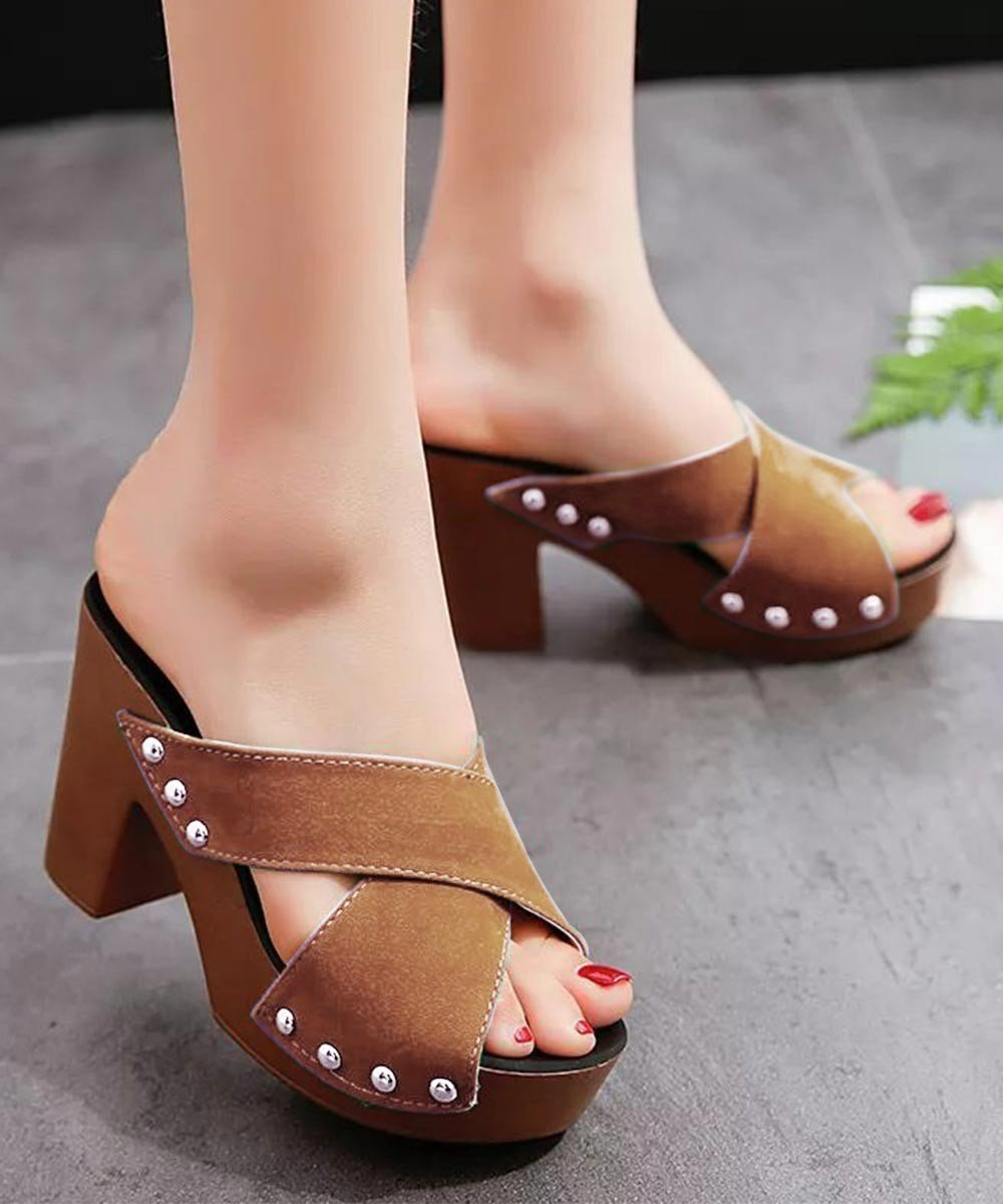 Care for you heels Brown