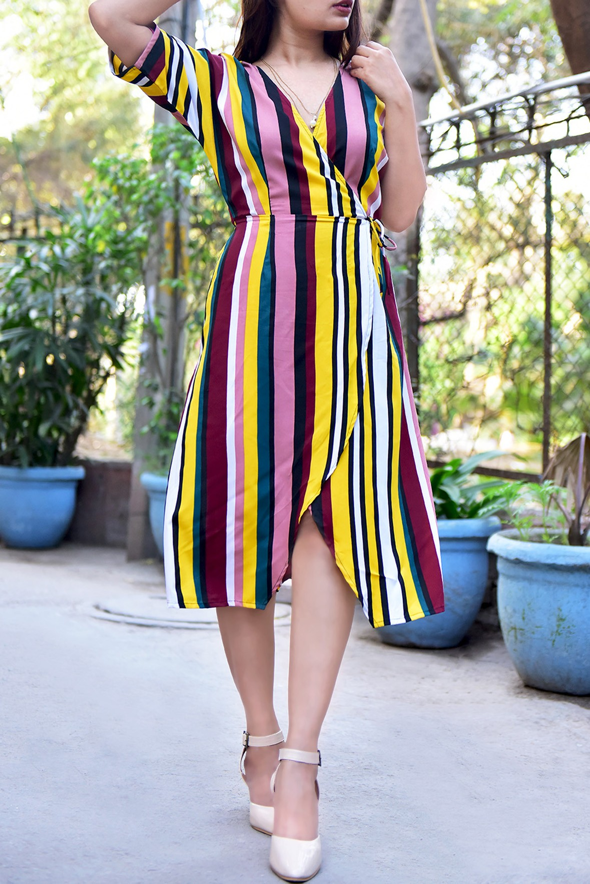 Conventional rainbow dress