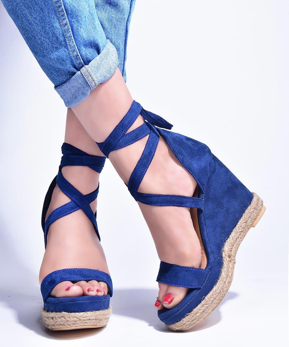 Summer trendy wedges Blue