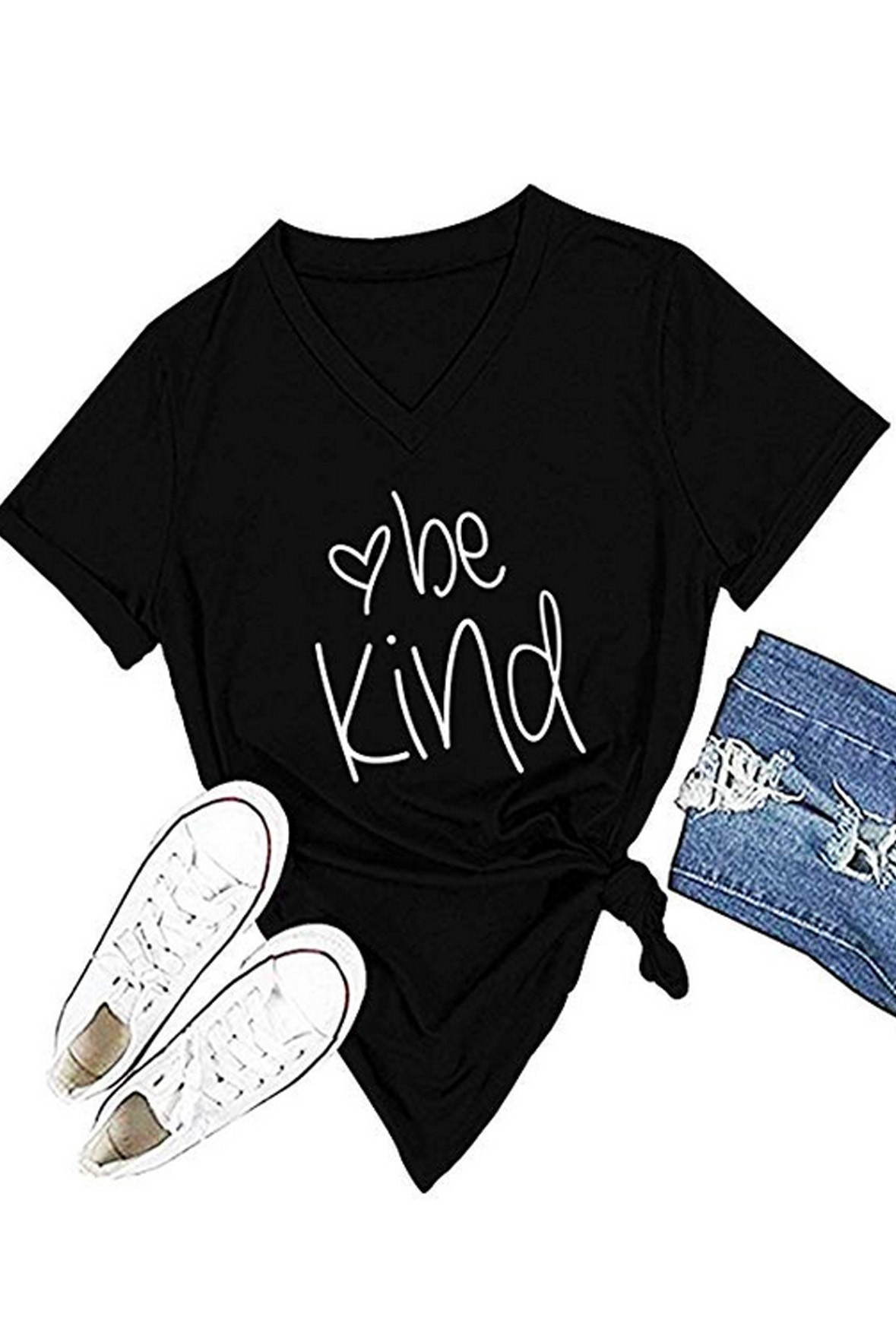 Be kind black tee