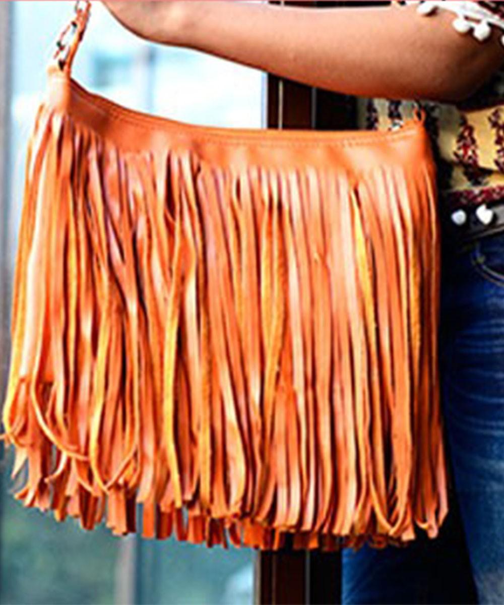 My Orange Fringe Sling