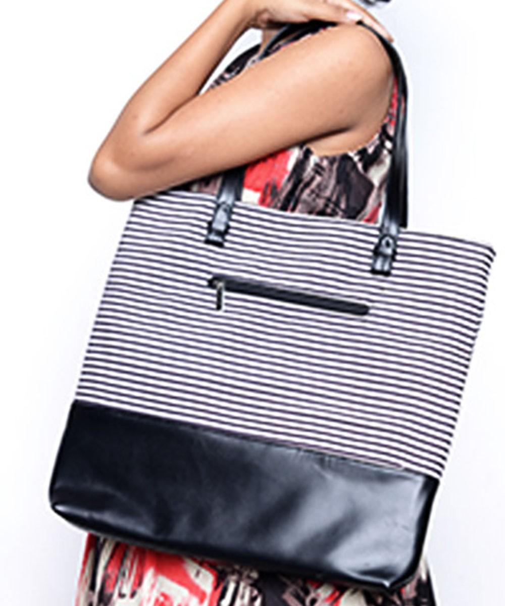 Black and White Hand Bag
