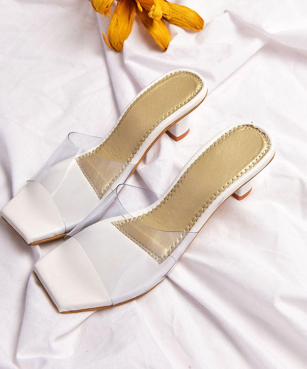After work chic white heels