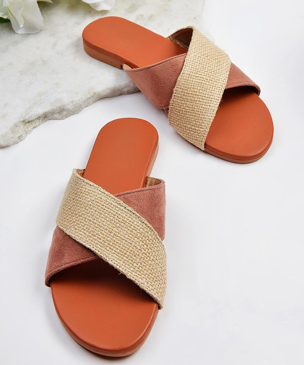 Easy slide on flats ( pink )