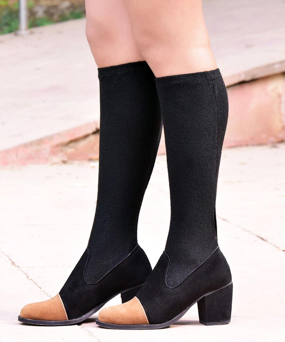 Two tone socks boots