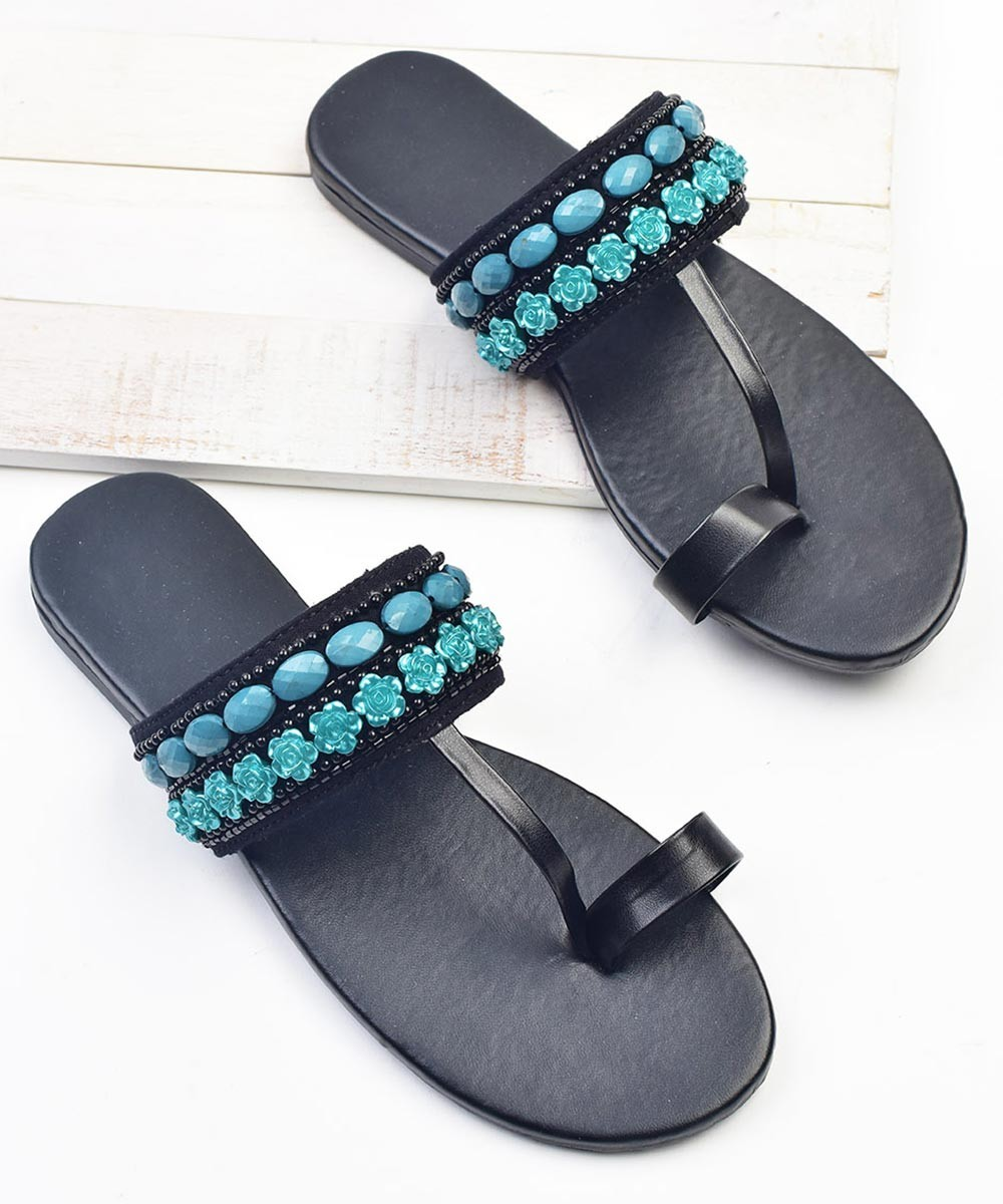 Inspired from ocean embroidered flats